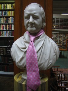 We worked with a wide range of non-professional performers who devised the piece with us.  The busts in the library had their own role in the piece.