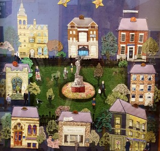 Image of Money panel from Leeds Tapestry 2000